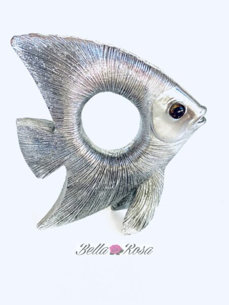 Decoración pez acero mediano