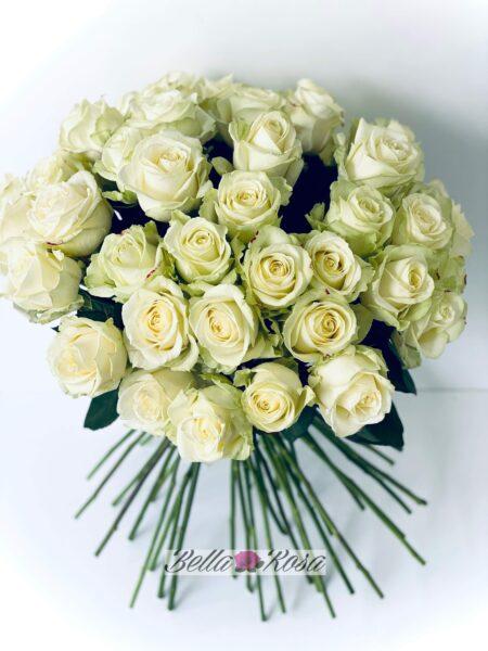 con cariño rosas blancas