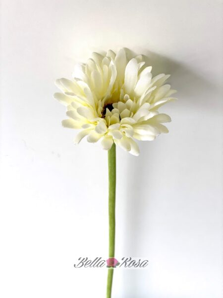 Gerbera artificial mini blanca